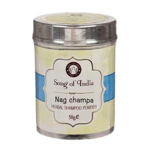 Сухой шампунь-кондиционер на основе мыльных бобов Шикаккай Наг Чампа (Nag Champa Song of India), 50 гр.
