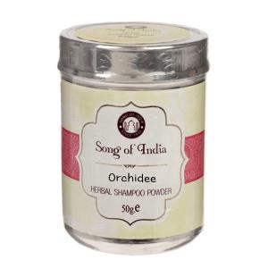 Сухой шампунь-кондиционер на основе мыльных бобов Шикаккай Орхидея (Orchidee Song of India), 50 гр.