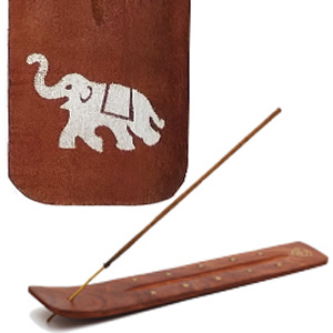 подставка для благовоний белый Слон