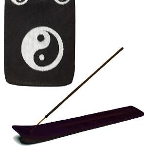 подставка для благовоний лыжа Инь-Ян цвет чёрный