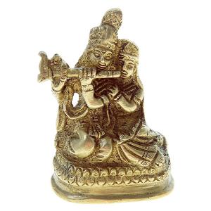 статуэтка Радха и Кришна латунь, 6см