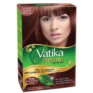хна для волос Дабур Ватика цвет бургунди (Dabur Vatika Naturals Burgundy), 60 грамм
