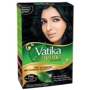 хна для волос Дабур Ватика цвет Натуральный чёрный (Dabur Vatika Naturals Natural Black), 60 гр.
