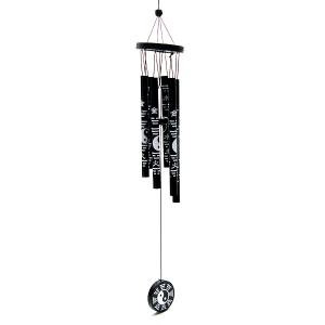 музыка ветра Инь-Янь 6 трубочек металл, высота 43 см.