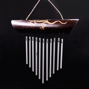 музыка ветра Ящерица 11 трубочек металл, высота 24 см.